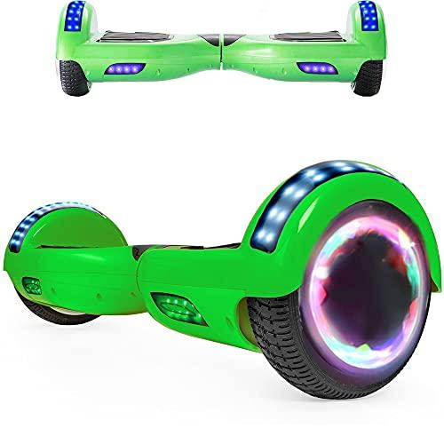 Magic Way Hoverboard Fuoristrada - 6.5'- Bluetooth - Motore 700 W - velocità 15 KM/H - LED - Overboard Elettrico autobilanciati - per Bambini e Adulti (verde)