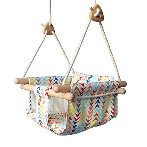Baby Swing Seat, Ademend Draagbare Stof Schommelstoel Voor Eenvoudige Montage Geschikt Voor Binnen En Buiten,Yellow