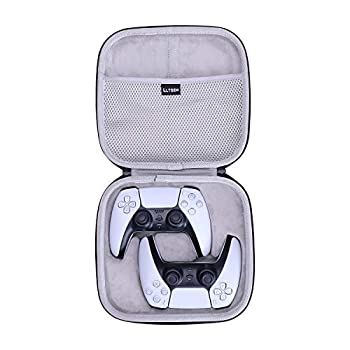 LTGEM Hard Case for Playstation 5 PS5 DualSense Wireless Controller Compatible with Two Controllers