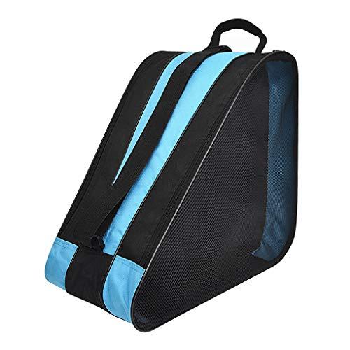 TINAYAUE Unisex Schlittschuh-Tasche, Aufbewahrungstasche für Schlittschuhlaufen, Sport, Schultertasche, Rucksack, tragbar, Inlineskates, Tragetasche für Schuhe, Organizer, für Kinder, Damen, Herren