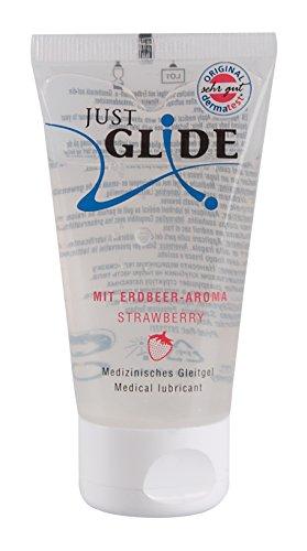 Just Glide Gleitgel Erdbeere 50 ml - Natürliches Gleitmittel auf Wasserbasis für sie und ihn, Gleitcreme mit Erdbeeraroma, 100{71a39fb4ac2b5d8eaba0ef35269cbf489415cf1e208f1bf770740eadefee642d} vegan