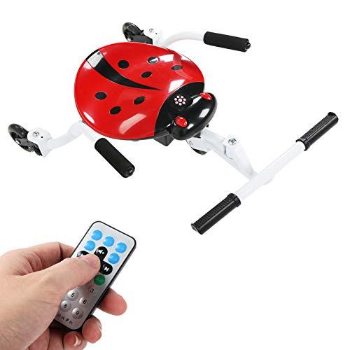 Pwshymi Hoverboard para niños Coccinellidae Asiento con Forma de Accesorio Kart Hoverboard en Go-Kart Playing Toy Car con luz y música para niños