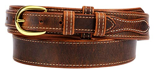 Forest Hill, Ranger Gun Belt, Heavy Duty, 1-1/2' Solid Leather, Amish Made, by Hand in Lancaster, PA