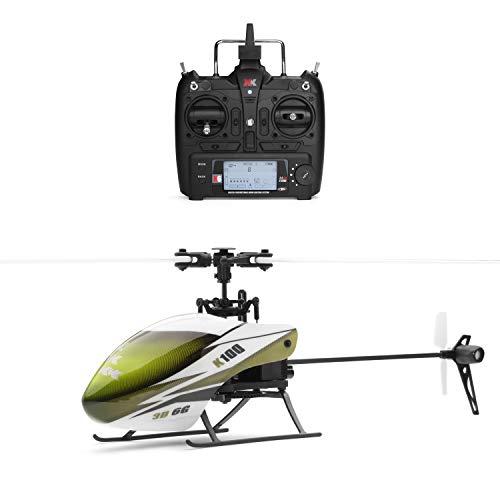 Weaston Helicóptero RC eléctrico 2.4G, Avión de Control Remoto con giroscopio, Avión de Control Remoto de altitud de Bloqueo Inteligente de Seis Canales, Avión RC de Nivel Profesional para Adultos