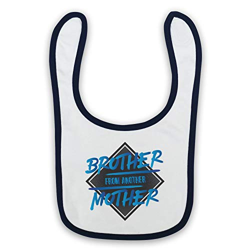 My Icon Art & Clothing Brother From Another Mother Funny Slogan Bavoir de Bébé, Blanc & Bleu Fonce