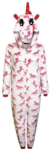 Unicornio Pijamas para Mujer Traje de Dormir Suave para Hombre Regalos para Damas Mono Adulto Animal Disfraz De Vestir