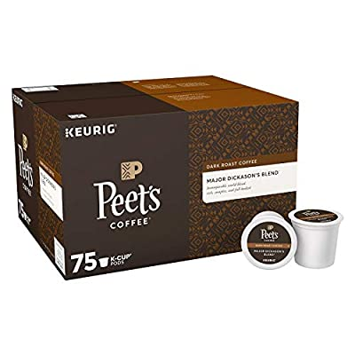 Peet's Coffee Major Dickason's Blend, Dark Roast 75 K-Cups. A1