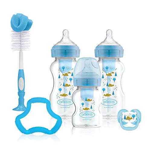Dr Brown's Options+ Anti-Kolik-Babyflaschen, Geschenk-Set, Blau