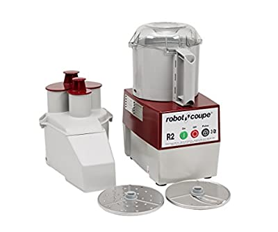 Robot Coupe R2N Continuous Feed Combination Food Processor with 3-Quart Polycarbonate Bowl, 1-HP, 120-Volts