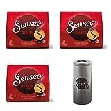 Senseo Kaffeepads Premium Set Klassisch / Classic, 3er Pack, Intensiver & Vollmundiger Geschmack, Kaffee, je 16 Pads, mit Paddose