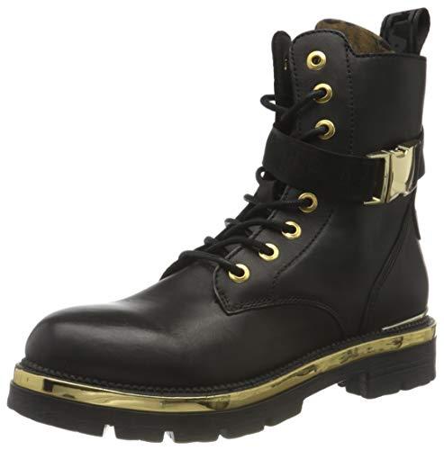 Replay Damen Waycross Mode-Stiefel, Schwarz 2809 Black Animalier, 41 EU