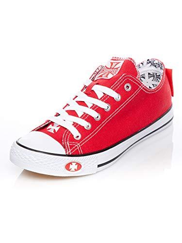 WEST COAST CHOPPERS Schuhe Warrior Low Tops, Farbe:red, Größe:41