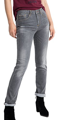 H.I.S Marilyn Jeans in Slim Fit für Damen / Hellgraue Jeans mit enger Passform und High Waist / Denim Hose in Größe 34/31