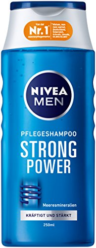 NIVEA 6er Pack Men Haar-Pflegeshampoo für Männer, 6 x 250 ml Flasche, Strong Power