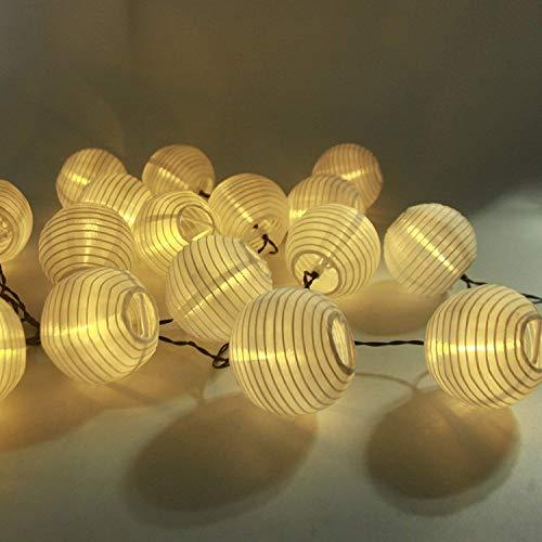LED Solar Lichterkette Lampions, ALED LIGHT IP65 Wasserdicht 20er LED Lampions Laterne Lichterkette Garten Innen und Außenbereich für Party Weihnachten (Warmweiß)