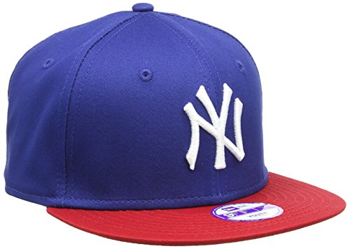 New Era Jungen Baseball Cap Mütze MLB 9 Fifty Block NY Yankees Snapback, Blau (Navy-Red), One size, 10880042