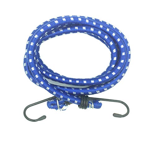 BRUFER 2121411 Bungee Cords 40'-inch Length Tenacity Strong 5/16'-inch (8mm) Round Elastic Climb Bungee Rope with Metal Hooks - BULK PACK OF 10 CORDS
