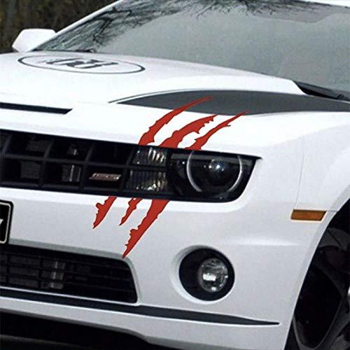 YiMall 4 PCS,40cm12cm Car Reflective Monster Sticker Black/White/Red Scratch Stripe Claw Marks Car Auto Headlight Vinyl Decal Car Sticker,