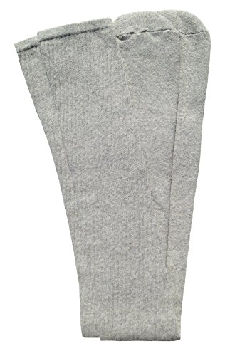 Skater-Socken, 88,9 cm, Oberschenkelhoch, klassisch, einfarbig, Grau