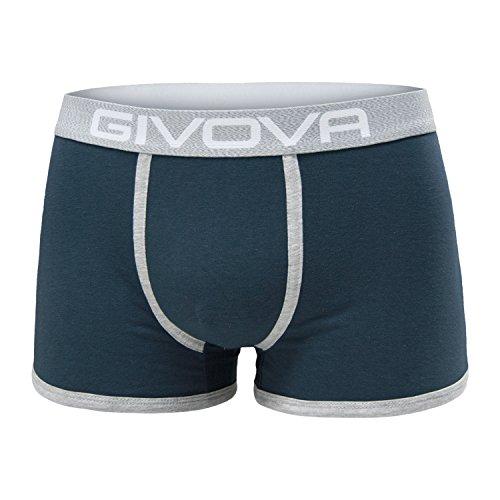 6 boxer uomo GIVOVA cotone elastico colori assortiti art.G9000 (GRIGIO/NAVY/NERO) (TG.L)