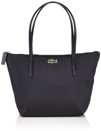 Lacoste NF0946PO, Bolso de hombro para Mujer, Negro (WITHOUT COLOR 000), 24x25x14 cm (B x H x T)