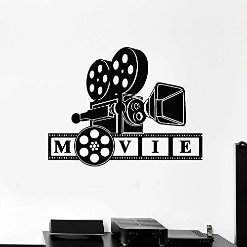 HGFDHG Pegatinas de Pared de Vinilo Papel Tapiz de película Disparo de imágenes Decoración de Cine en casa para Amantes de la película