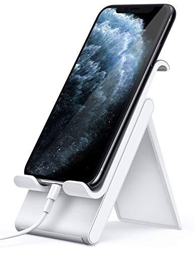 Lamicall Handy Ständer, Handy Halterung Verstellbare - Handyhalterung, Halter für iPhone 11 Pro, Xs Max, Xs, XR, X, 8, 7, 6 Plus, SE, 5, Samsung S10 S9 S8 S7 S6, Huawei, andere Smartphone - Weiß