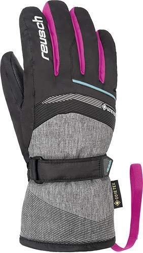 Reusch Kinder Bolt GTX Junior Handschuh, Black/Black Melange/pink glo, 6.5