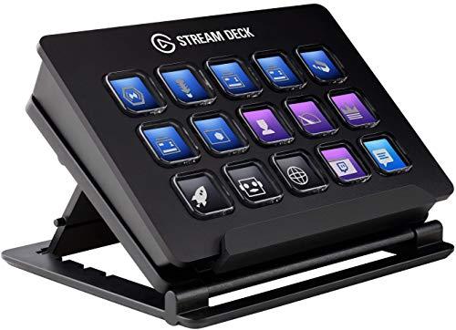 Elgato Stream Deck - Controlador para contenido en directo, 15 teclas LCD personalizables, soporte ajustable, Windows 10… 8