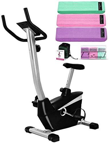 Workout spinning fiets met elastische banden Indoor magnetische rechtop fiets met Comfort Seat Calorie apparatuur voor Home Gym dsfhsfd(Upgrade)