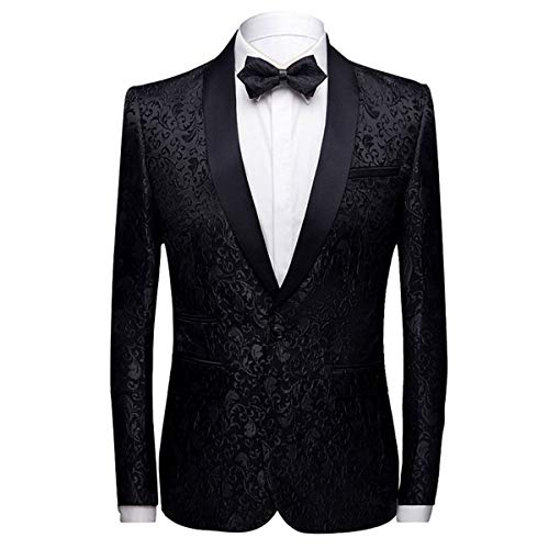 Allthemen mannen Casual Blazer Slim Fit Paisley Bloemen Jacquard pak jassen stijlvolle jassen chique jassen