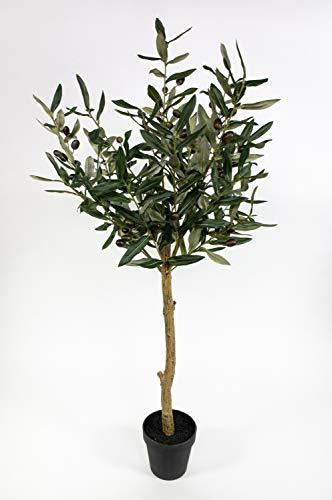 Olivenkugelbaum 100cm im Topf ZF Kunstbaum Kunstpflanzen künstlicher Baum Olivenbaum Olive
