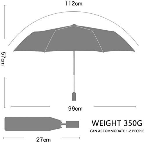 Paraguas de Viaje a Prueba de Viento Automático Abrir/Cerrar Paraguas UV portátil Paraguas Plegable con Revestimiento de Secado rápido 210T Mango fácil de Transportar y Antideslizante,Color:Off-white