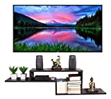 Captiver Engineered Wood Renald 52 Inch Tv Entertainment Unit Cum Books Shelf 49X9X12 Inches in Wenge Color