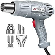 POWERFUL: This NETTA Heat Gun has 2000W at its disposal meaning it can make lightwork of whatever jobs you may need it to do. This item has 2 temperature and airflow settings which allows this product to go from 300℃ to 600℃ (temperature) and from 30...
