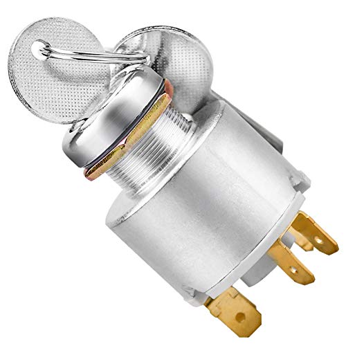 XIAOXIAO 12V blocco accensione universale per auto, interruttore di avviamento del motore interruttore di accensione interruttore di accensione/spegnimento a 3 posizioni con 2 chiavi