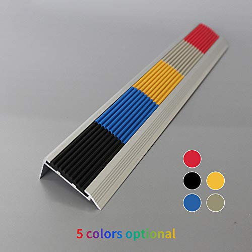 questprofile 40x40mm 1.5 Meter Anti-Rutsch Treppenkantenprofil f/ü r Treppenstufen Winkelprofil PVC Gummi RD braun