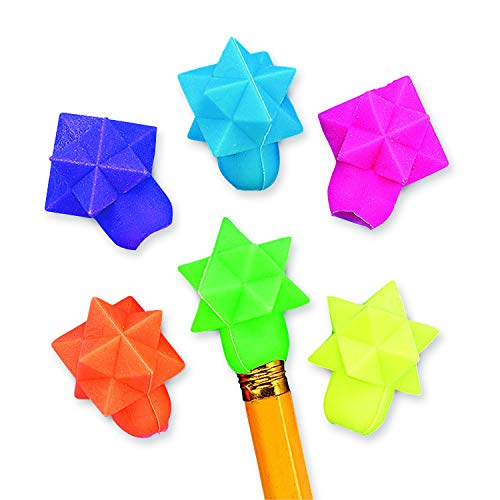 STAR-SHAPED ERASER PENCIL TOPPERS - Stationery - 144 Pieces