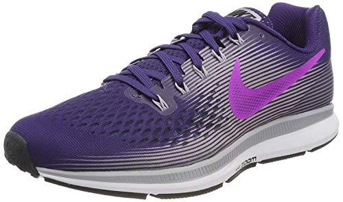 Nike Wmns Air Zoom Pegasus 34, Scarpe Running Donna, Blu (Ink/Hyper Violet-Provence Purple-Barely), 36.5 EU