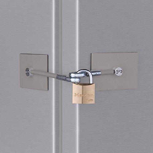 Stainless Steel Refrigerator Door Lock with Padlock by Marinelock LLC (English Manual)