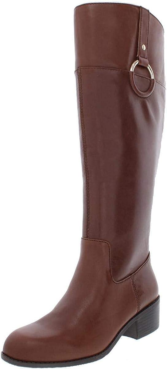 Alfani Womens briaah Almond Toe Knee High Riding Boots