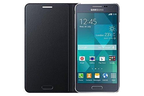 Samsung Flip Hülle für Galaxy Alpha schwarz