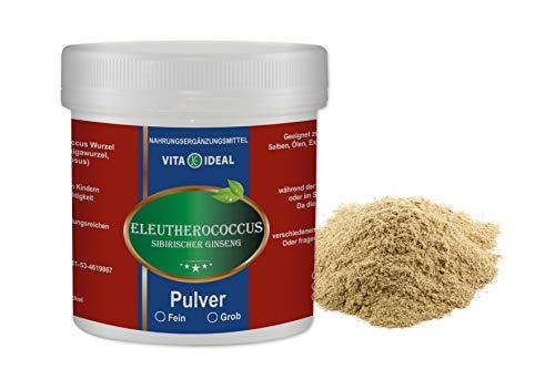 VITA IDEAL ® Eleutherococcus Wurzel Pulver fein 300g (Sibirischer Ginseng, Taigawurzel) + Messlöffel