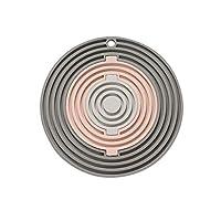 HTLLT 耐久性に優れたコースターホームコースターキッチン断熱マットアンチ火傷ポットマットホームクリエイティブアンチスキッドコースター,ピンク-B