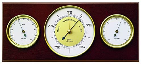 Fischer 9103-22 Re-Design Wetterstation für innen, Vintage Design 60er Jahre, Manufaktur aus Deutschland