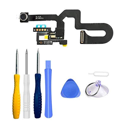 Xlhama Cámara Frontal de Repuesto Compatible con iPhone 8 Plus cámara Frontal Sensor de proximidad Cable Flexible de autofoco con Kit de Herramientas de reparación