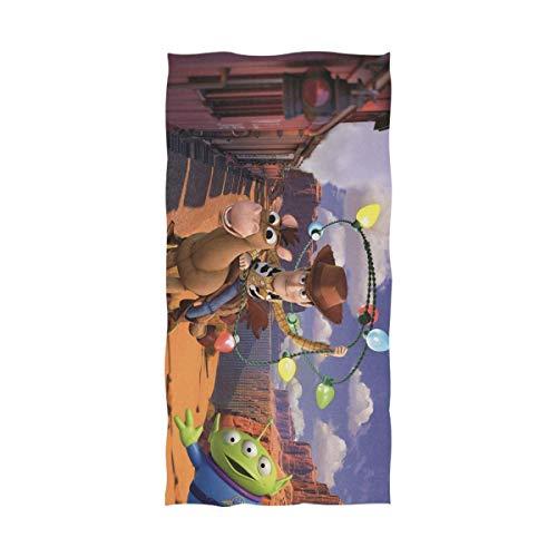 TUCBOA Toallas De Playa,Toalla De Baño De Secado Rápido Toy Story, Toallas De Playa para Adultos, Cómodas Y Suaves para Viajes De Gimnasio Al Aire Libre,80x130cm
