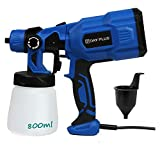 Paint Sprayer for Fencing Walls and Ceilings 550W Airless Electric Home Outdoor Wall Fence Door Car Repairing Spray Gun with 3 Spraying Patterns Blue