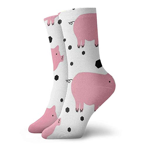 Unisex Süße Schweinchen-Socken, atmungsaktiv, Fantasie, Knöchel, Laufen, Wandern, Wochenende, Sport, Sportsocken, kurze Crew-Socken, 30 cm