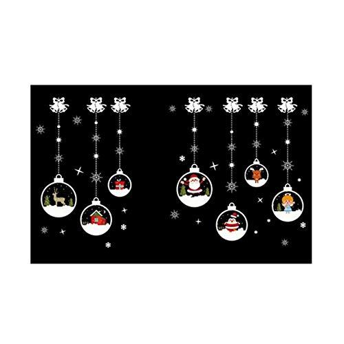 Pegatinas Navidad Decorativas Frohe Weihnachten Fensteraufkleber Sticker Schneeflocke Weihnachtsmann Fenster Tür Aufkleber Sticker Sticker Aufkleber para Escaparate